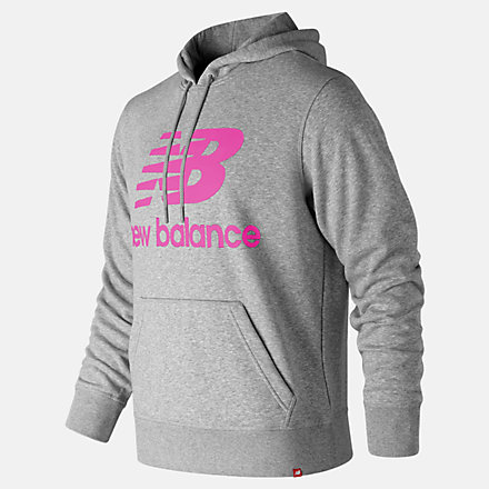 New Balance Essentials Stacked Logo Po Hoodie, MT91547PEO image number null