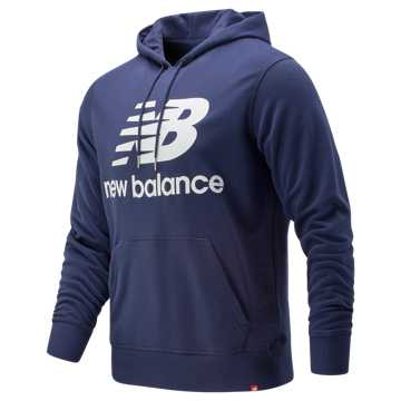 New Balance Essentials Stacked Logo Pullover Hoodie, Pigment