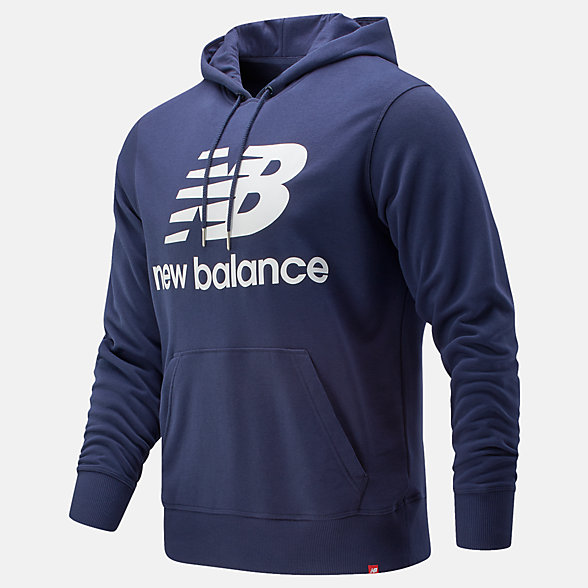 NB Essentials Stacked Logo Po Kapuzenpullover, MT91547PGM