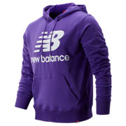 NB Essentials Stacked Logo Pullover Hoodie, Prism Purple