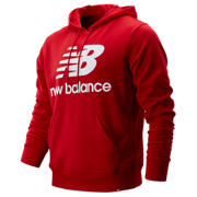 New Balance Essentials Stacked Logo Po Hoodie, Team Red