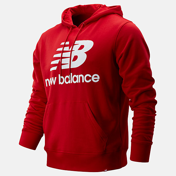 New Balance Essentials Stacked Logo Pullover Hoodie, MT91547REP