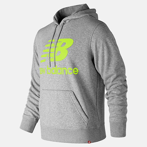 New Balance Essentials Stacked Logo Pullover Hoodie, MT91547SYE