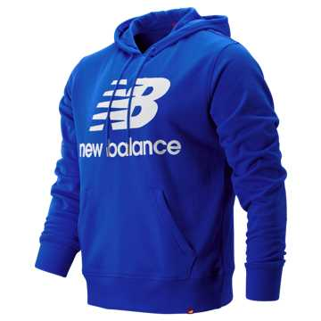 New Balance Essentials Stacked Logo Pullover Hoodie, Team Royal