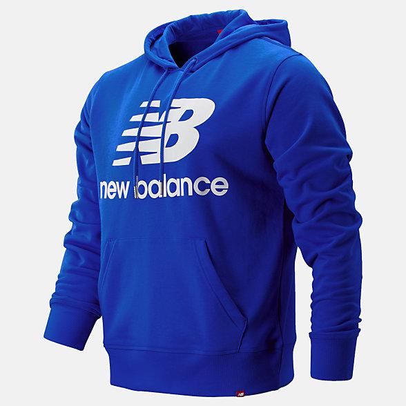 New Balance 籃球休閑系列男款字母LOGO衛衣, MT91547TRY