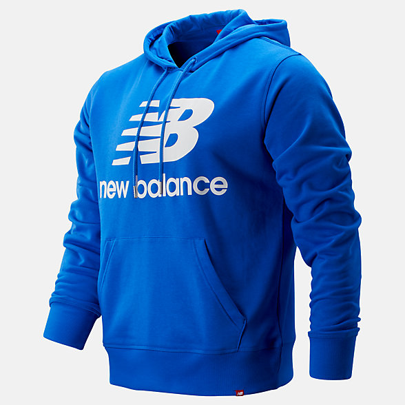 NB Essentials Stacked Logo Pullover Hoodie, MT91547VCT