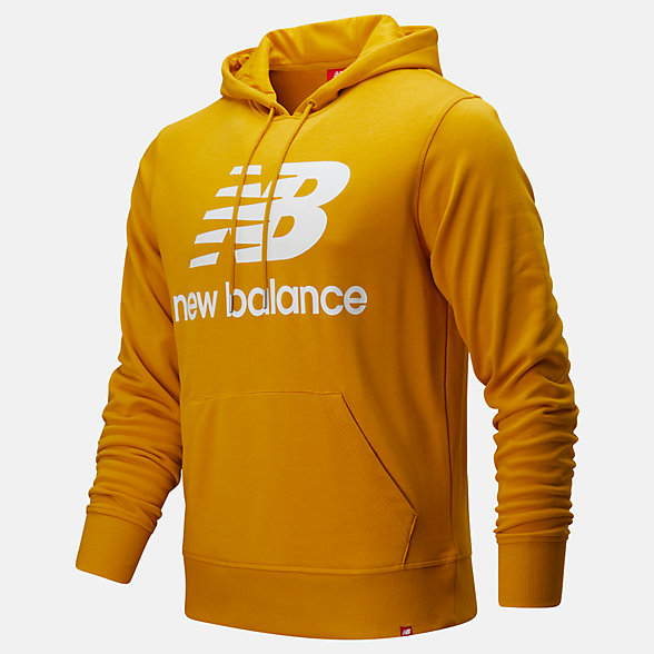 NB Essentials Stacked Logo Pullover Hoodie, MT91547VGL