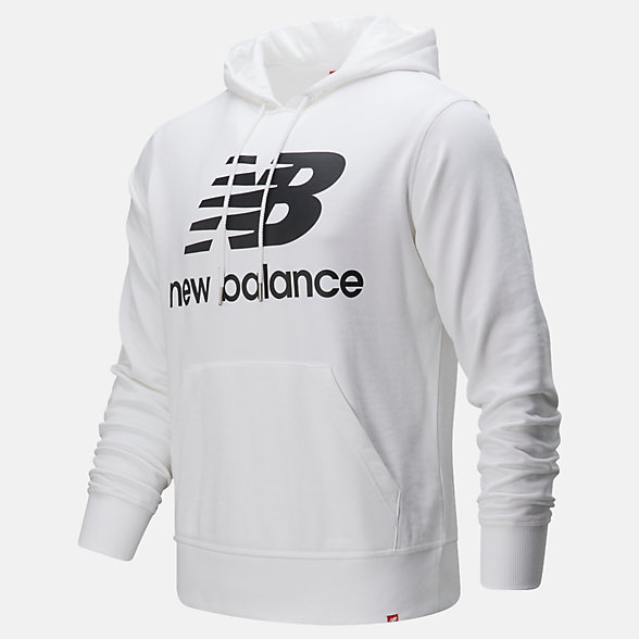 New Balance Chandail à capuche à logo superposé Po Essentials, MT91547WK