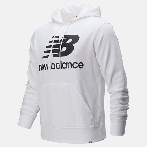 NB Sweats à capuche Essentials Stacked Logo Po, MT91547WK