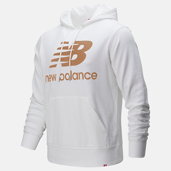 New Balance Essentials Stacked Logo Pullover Hoodie, MT91547WM
