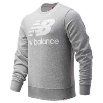 New Balance Essentials Stacked Logo Crew, Athletic Grey
