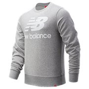 6c940776e6476 New Balance Essentials Stacked Logo Crew, Athletic Grey