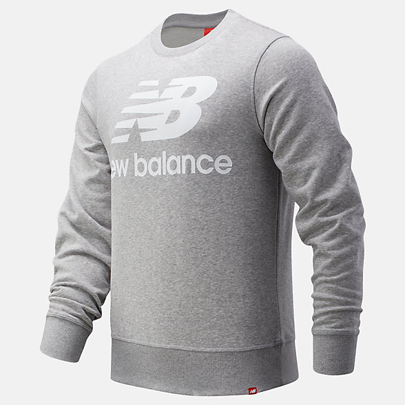 New Balance Essentials Stacked Logo Crew, MT91548AG