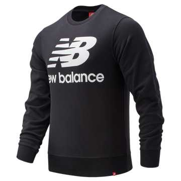 New Balance Essentials Stacked Logo Crew, Black