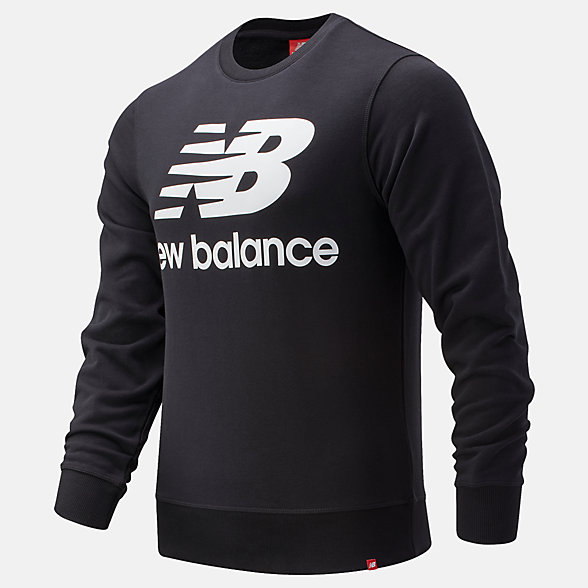New Balance Essentials Stacked Logo Crew, MT91548BK