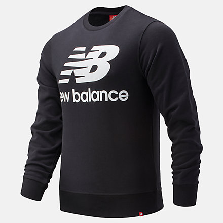 New Balance Essentials Stacked Logo Crew, MT91548BK image number null