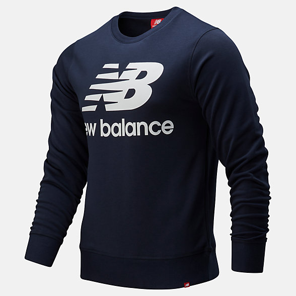 New Balance Essentials Stacked Logo Crew, MT91548ECL
