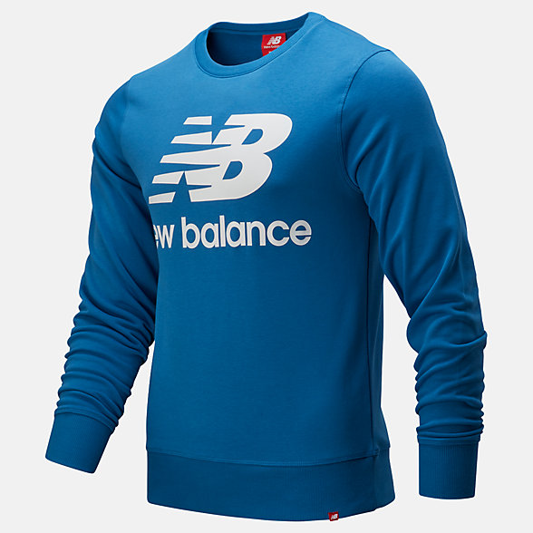 New Balance Essentials Stacked Logo Crew, MT91548MAK