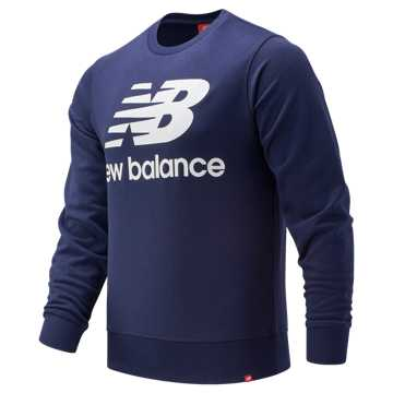 New Balance Essentials Stacked Logo Crew, Pigment