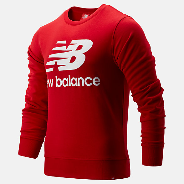 New Balance Essentials Stacked Logo Crew, MT91548REP