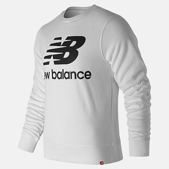 New Balance Essentials Stacked Logo Crew, MT91548WK
