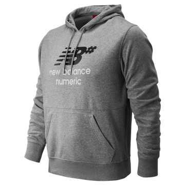 New Balance NB Numeric Stacked Hoodie, Athletic Grey