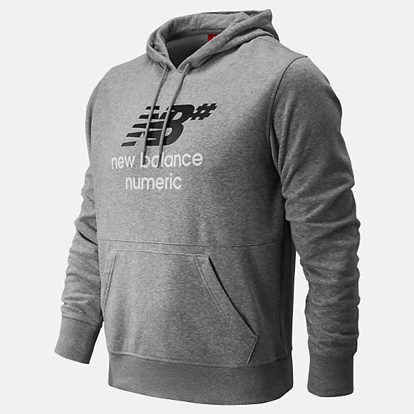 NB NB Numeric Stacked Hoodie, MT91557AG
