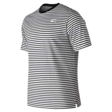 New Balance NB Athletics Stripe Tee, Black