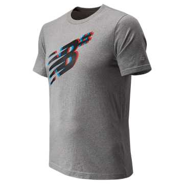 New Balance NB Numeric Shadow Tee, Athletic Grey