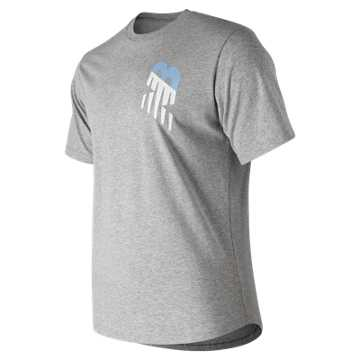 New Balance NB Athletics Vert Tee, Athletic Grey