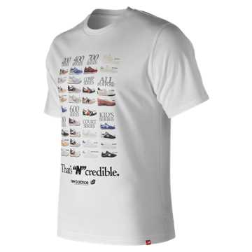 New Balance Ncredible Tee, White