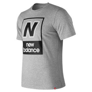 New Balance Essentials N Box Tee, Athletic Grey