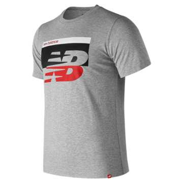 New Balance Essentials Breaker Tee, Athletic Grey