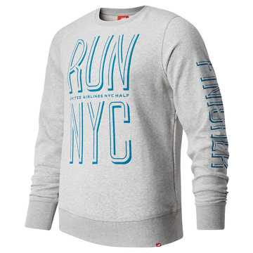 9284e0a92f169 New Balance United Airlines Half Finisher Crew, Athletic Grey