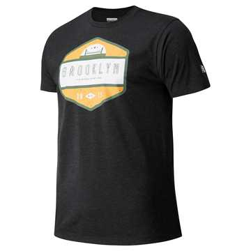 New Balance Brooklyn Half Short Sleeve, Black