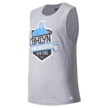 New Balance Brooklyn Half How Sweet Singlet, Grey