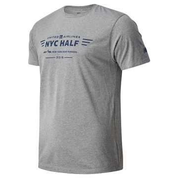 New Balance United Airlines Half Short Sleeve, Grey