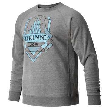 New Balance United Airlines Half Run NYC Long Sleeve, Grey