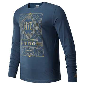 New Balance United Airlines Half NYC 2019 Long Sleeve, North Sea Heather