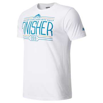 New Balance United Airlines Half Finisher Short Sleeve, White