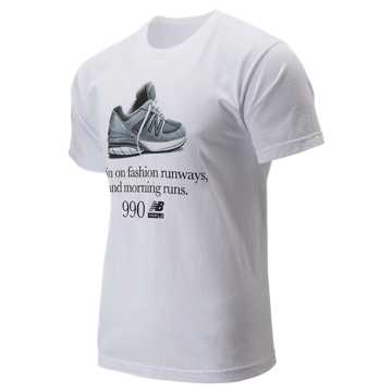 New Balance 990 Fashion Tee, White