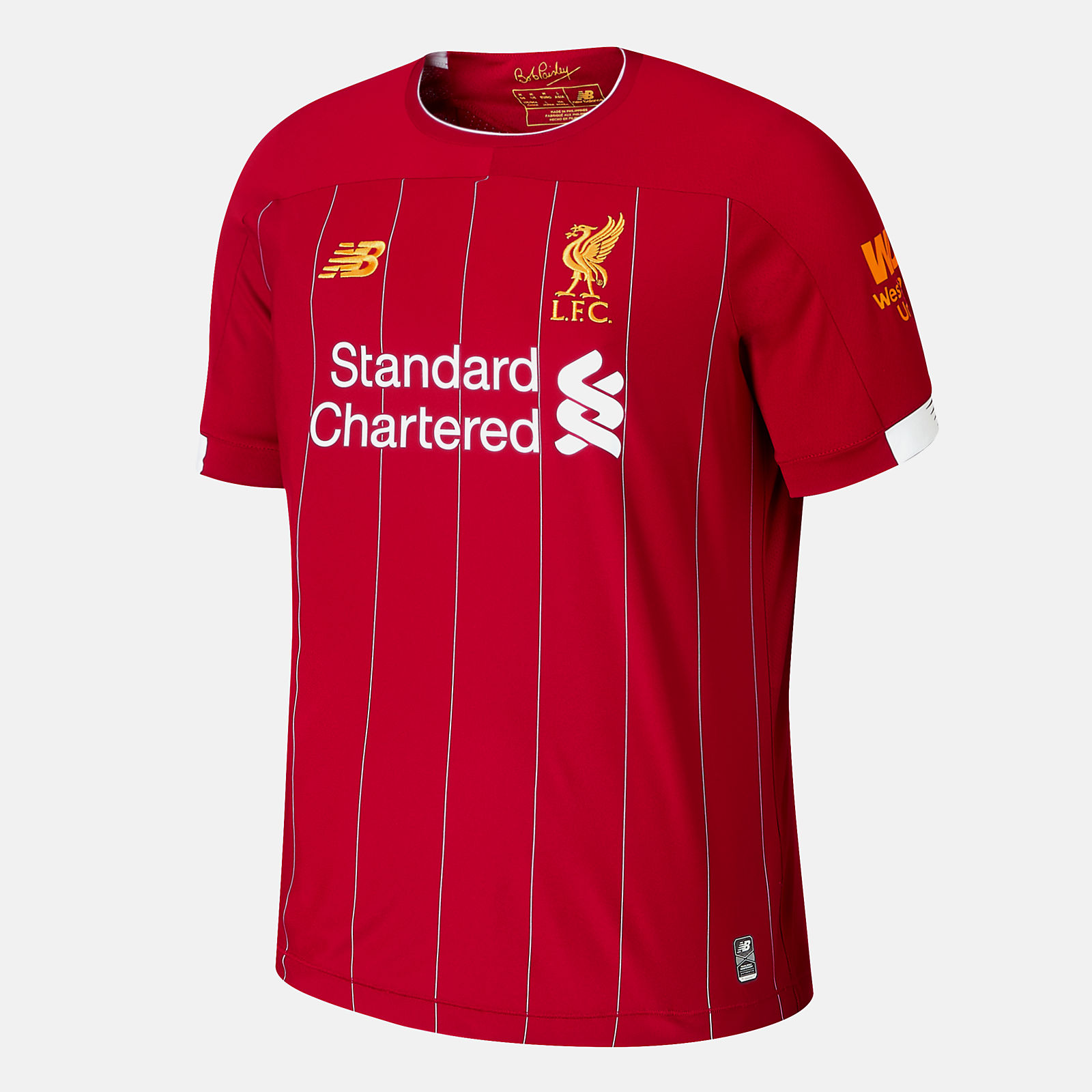 liverpool fc home ss jersey no epl patch new balance liverpool fc home ss jersey no epl patch