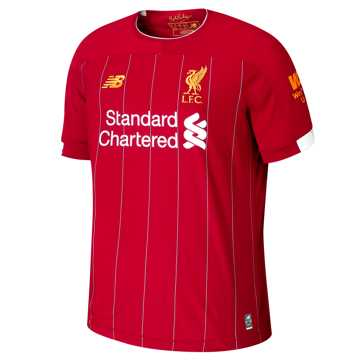 New Balance Liverpool FC Home SS Jersey No EPL Patch, Red Pepper