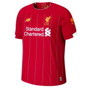 New Balance Liverpool FC Home SS Jersey No EPL Patch, Red Pepper with White & Gold