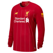 New Balance Liverpool FC Home LS Jersey No EPL Patch, Red Pepper with White & Gold