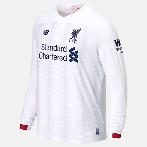 New Balance Liverpool FC Away LS Jersey No EPL Patch, MT930015AWY