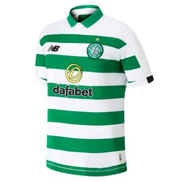 New Balance Celtic FC Home SS Jersey, Green with White & Black