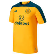 NB Celtic FC Away SS Jersey, Yellow with Green