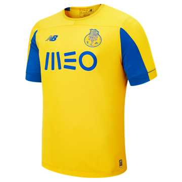 New Balance FC Porto Away SS Jersey, Yellow with Lapis Blue