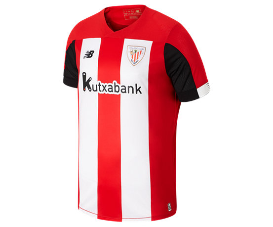c8de6e675c62a7 NB Athletic Club Home SS Jersey, Red with Black & White